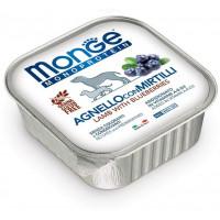 Monge Dog Monoprotein Fruits консервы для собак паштет из утки с малиной 150г