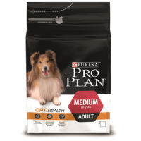 Проплан Dog OPTIHEALTH корм для взрослых собак средних пород курица рис