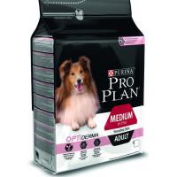 Проплан Dog OPTIDERMA корм для взрослых собак средних пород чувствительная кожа лосось