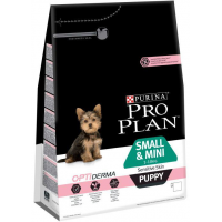Проплан Dog OPTIDERMA корм для щенков мелких пород чувствительная кожа лосось