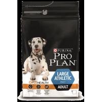 Проплан Dog ATHLETIC OPTIHEALTH корм для взрослых собак крупных пород атлетического телосложения курица рис