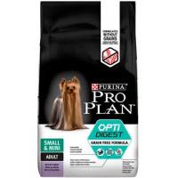Проплан Dog OPTIDIGEST Grain Free корм для собак мелких пород индейка беззерновой