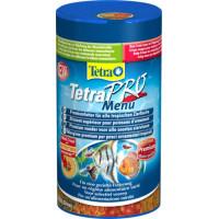 TetraPro Menu корм для всех видов рыб 4 вида мелких хлопьев 250 мл.