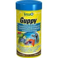 TetraGuppy корм в хлопьях для живородящих пецилиевых рыб, гуппи и меченосцев