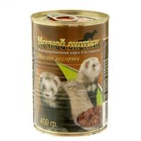 Ночной охотник сухой корм для хорьков мясное ассорти 400 гр.