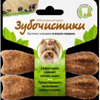 Деревенские лакомства зубочистики для собак мелких пород со вкусом говядины 2x18г  73303778