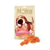 MOLINA Лакомство для собак Куриные чипсы, 80г