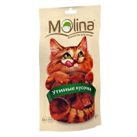 MOLINA Лакомство для кошек Утиные кусочки, 80гр