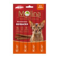 MOLINA Жевательные колбаски для кошек Оленина и гусь, 20г
