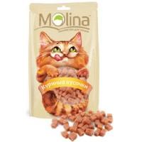 MOLINA Лакомство для кошек Куриные кусочки 80гр