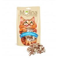 MOLINA Лакомство для кошек Куриный сэндвич 80гр