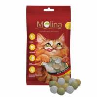 MOLINA Витаминизированное Лакомство для кошек МИКС дичь,маскарпоне,травка 35г