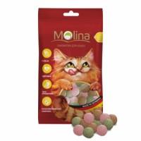MOLINA Витаминизированное Лакомство для кошек МИКС рыба, водоросли, дичь 35г