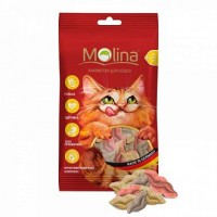 "MOLINA Витаминизированное Лакомство для кошек МИКС ""Поцелуйчики"" 35г"