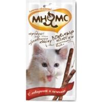 Pro Pet Мнямс лакомые палочки для кошек с говядиной и печенью 13,5 см, 3*5 гр 0086