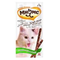 Pro Pet Мнямс лакомые палочки 13,5 см для кошек с цыпленком и уткой 10х5 г