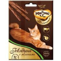 """Лакомство """"Мнямс"""" Деликатес лакомые палочки 9 см для кошек с говядиной и яблоком 3х4г"""