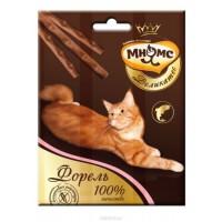 Мнямс Деликатес лакомые палочки 9 см для кошек с форелью 3х4г