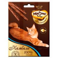 Мнямс Деликатес лакомые палочки 9 см для кошек с камбалой 3х4г