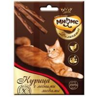 Мнямс Деликатес лакомые палочки 9 см для кошек с курицей и лесными ягодами 3х4г