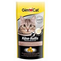 """Gimcat Лакомство витаминизированное """"Сырные ролики"""" Кожа+Шерсть для кошек, 40гр"""