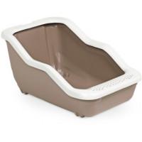 MPS туалет-лоток NETTA Open с рамкой коричневый 54х39х29h см