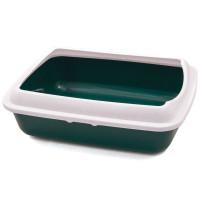 Туалет для кошек прямоугольный с бортом, 505*390*150 мм