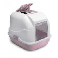 IMAC EASY CAT туалет для кошек закрытый белый пепельно-розовый, 50х40х40см