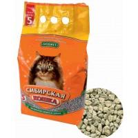 Сибирская кошка наполнитель Бюджет минеральный впитывающий