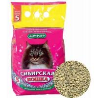 Сибирская кошка наполнитель Комфорт минеральный впитывающий