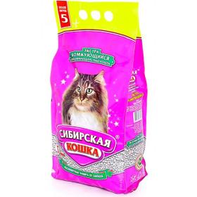 Сибирская кошка наполнитель Экстра минеральный комкующийся кошек