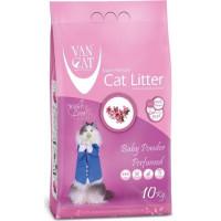 Van Cat комкующийся наполнитель без пыли с ароматом Детской присыпки