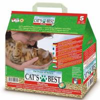 Cat`s Best Eko plus наполнитель древесный комкующийся для кошачьего туалета