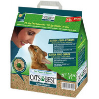 Cat`s Best Green Power наполнитель древесный комкующийся для котят и кошек