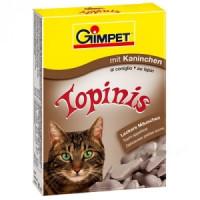 Gimpet витаминизированное лакомство Topinis для кошек с кроликом 180 шт.