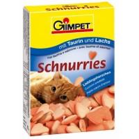 """Gimpet Витаминизированное лакомство для кошек """"Сердечки"""" с лососем, 650 шт"""